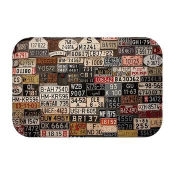 Alfombra Vintage Alfombra para el hogar Felpudo, alfombrilla antideslizante, placa, número, alfombras...