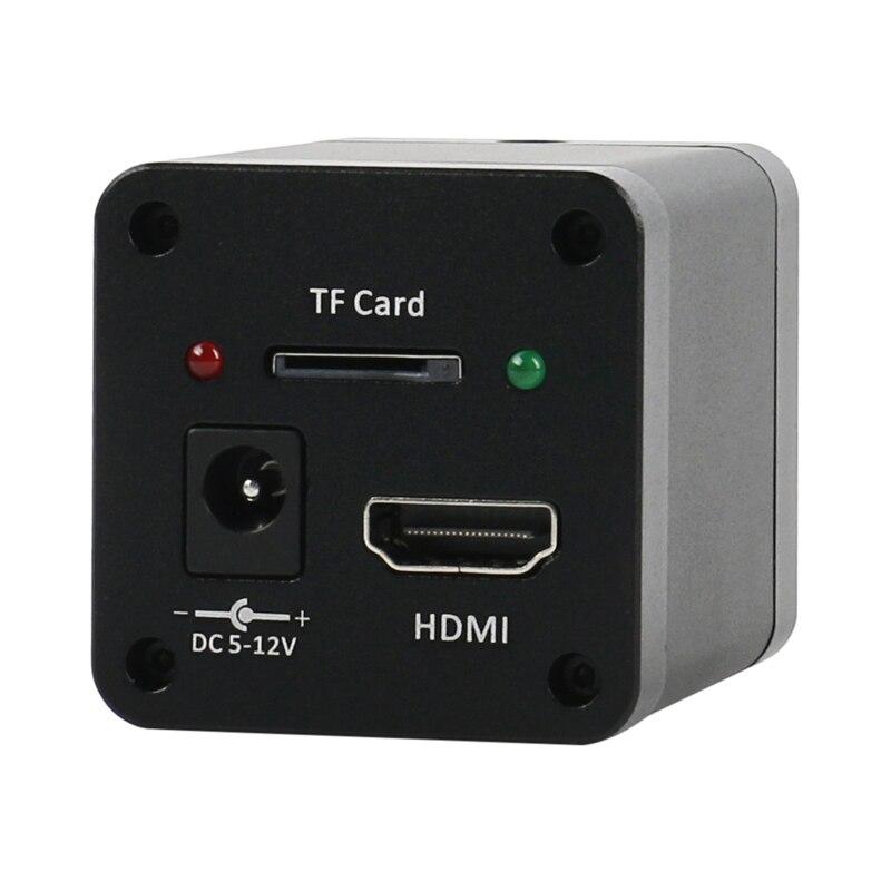 SONY imx323 10MP HD 1080P HDMI Lab Digital Industriale Video Microscopio C mount TF Della Macchina Fotografica Video Recorder Per Il Telefono PCB Saldatura