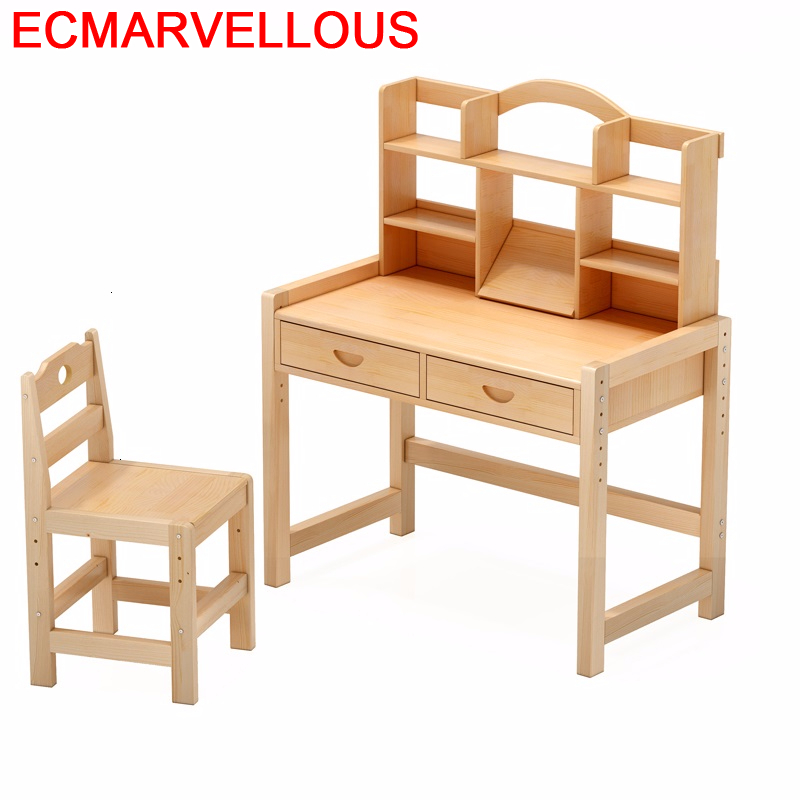 Bambini Escritorio De Estudio Desk For Children Pour And Chair Child Adjustable Mesa Infantil Enfant Kinder Kids Study Table