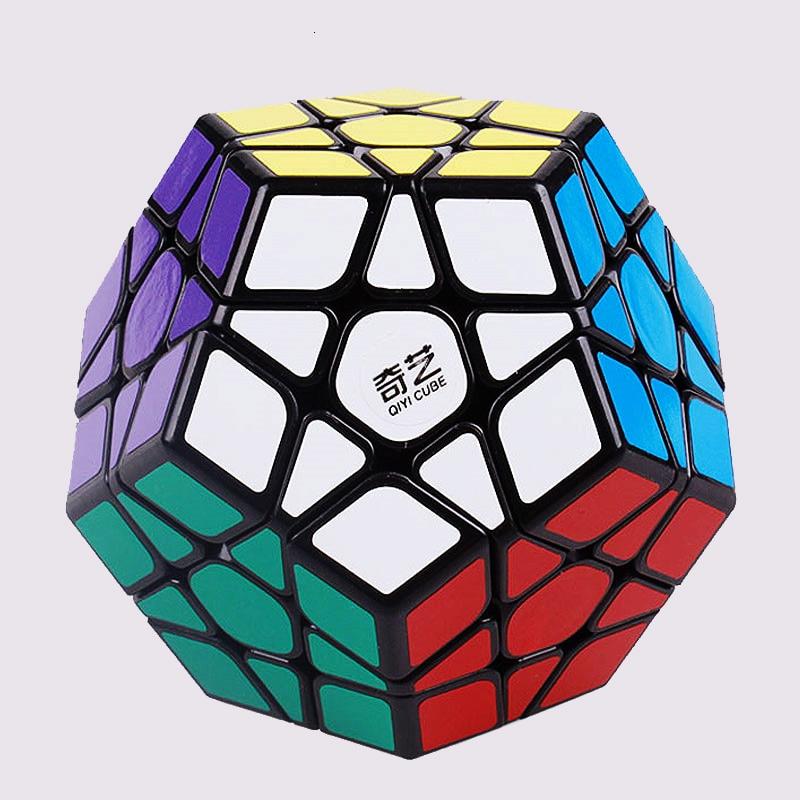 매직 큐브 QiYi S Megaminx 속도 전문 12 사이드 퍼즐 Cubo Magico 교육 완구 어린이를위한 두뇌 티저 퍼즐 완구