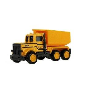 Image 3 - هندسة صغيرة سبيكة سيارة جرار لعبة شاحنة قلابة نموذج كلاسيكي سيارات لعبة للأطفال الصبي هدية سيارة أطفال اكسسوارات 8 أنماط