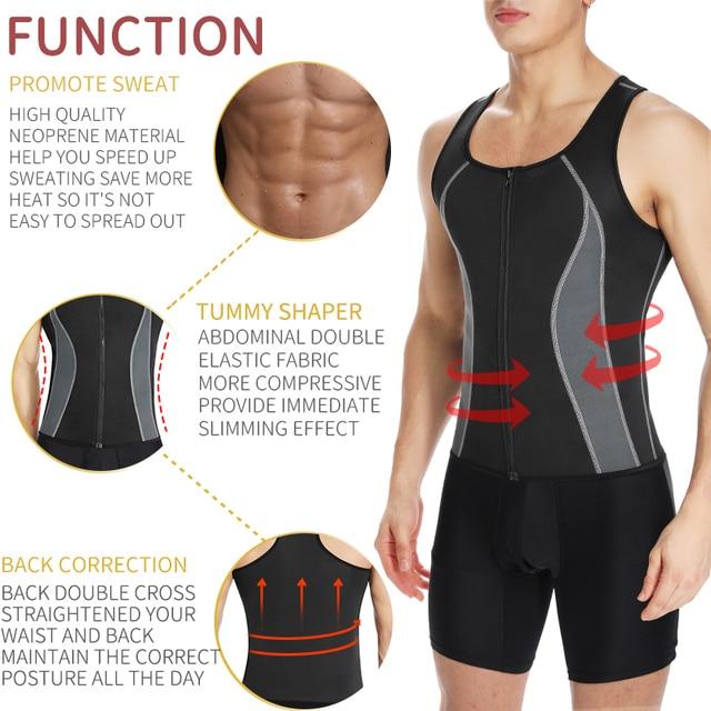 Men Workout Waist Trainer Abs Abdomen Shapewear Tummy Slimming Sheath Sauna Body Shaper Trimmer Belt Slimming Tops Sweat Corset 1