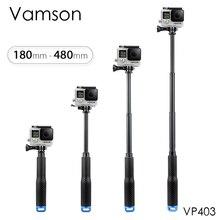 Vamson עבור GoPro גיבור 7 6 5 אלומיניום להארכה מוט Selfie מקל חדרגל חצובה הר לdji אוסמו פעולה עבור xiaomi יי VP403