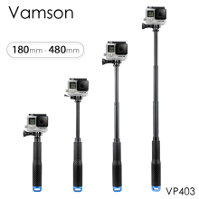 Vamson for GoPro Hero 7 6 5 Aluminum Extendable Pole Selfie Stick Monopod Tripod Mount for DJI OSMO Action for Xiaomi Yi VP403