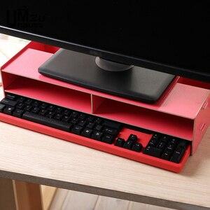 Настольная подставка для монитора, офисные ящики для хранения, деревянный ящик для стола, органайзеры для клавиатуры, компьютера, домашней ...