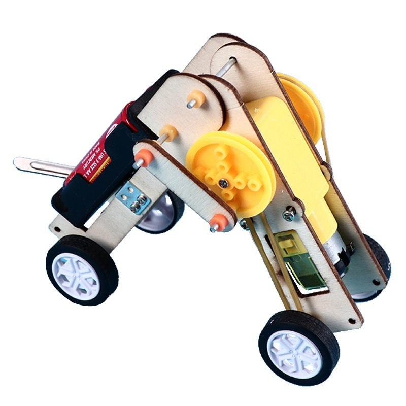 Kit de Robot rampant électrique pour enfants, bricolage, modèle assemblé, technologie, jouets scientifiques éducatifs, STEM, école, cadeaux