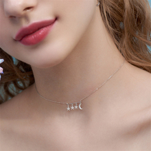 2020 Cool Graduation Gifts Personalized 925 Silver Pendants Fashion Necklace Statement CZ Stones Star&Moon Lady Women's Jewelry