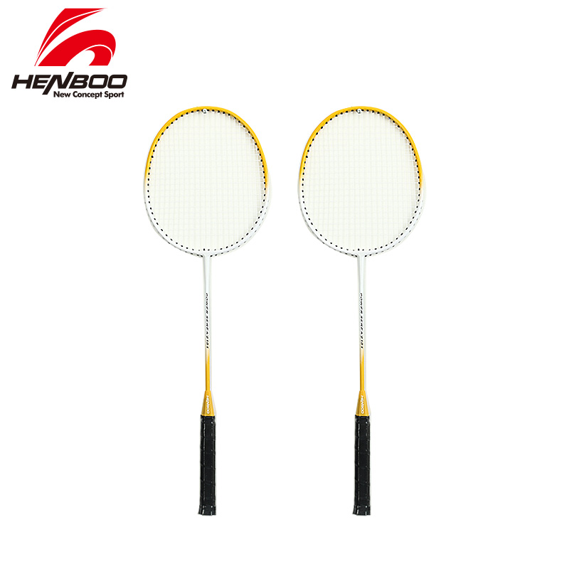 HENBOO Lightweight Badminton Set Standard Use Durable Iron Alloy Training Badminton Racket With Tote Bag Sports Equipment 2101