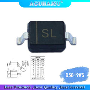 100pcs 0805 S4 B5819WS smd diodes IN5819 SOD-323 Patch Schottky diode
