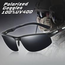Top Quality Aluminum Magnesium Men HD Polarized Sunglasses Outdoor Goggles Sport