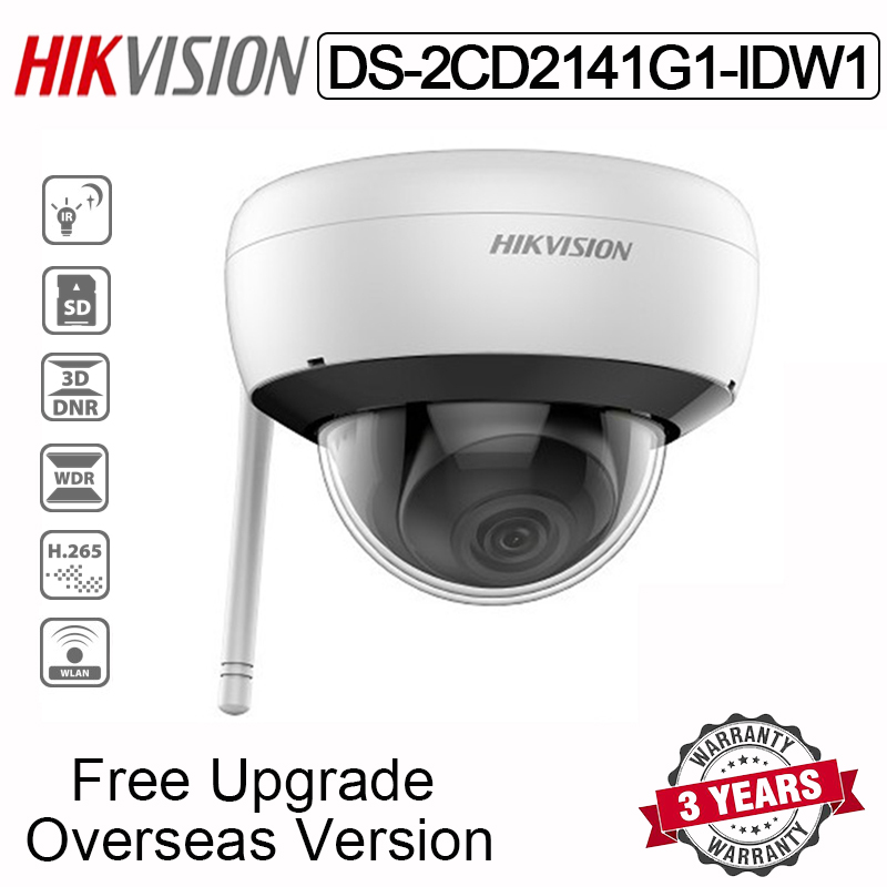 New Hikvision DS-2CD2141G1-IDW1 4MP Wifi Dome IP Camera Wireless IR 30M With SD card slot Built-in Mic Waterproof Indoor Network Camera for Home Security AP