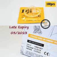 100 шт Ультра тонкие презервативы для ощущения презервативы со смазкой из натурального латекса большой контрацепции секс-товары для мужчин ...