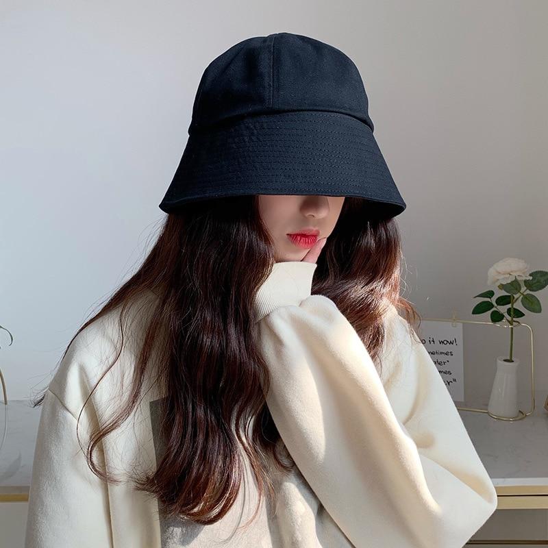 2019 New Hat Women Female Autumn And Winter New Bell-shaped Fisherman Hat Japanese Sunscreen Bucket Cap Korean Basin Caps