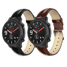 Bracelet For Amazfit GTR 47mm Strap For Xiaomi Huami Amazfit Gtr Pace/1 Stratos/2 2s 3 Smart Watch Band Leather Watchband(China)