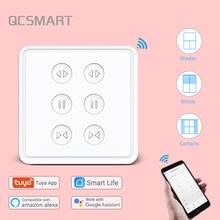 Tuya Smart Life EU WiFi Double Curtain Switch Remote Control Blinds Engine Roller Shutter App Timer Google Home Alexa Echo