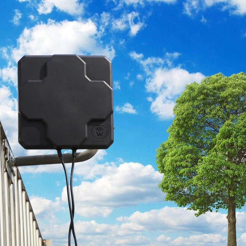 Antenne externe directionnelle aérienne de mimo de l'antenne 4G LTE N 18dbi 698-2690MHz 4G de panneau extérieur masculin pour le routeur sans fil