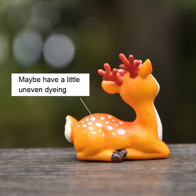 BAIFUOR 1 PC Forest Fairy Animal Sika Deer Fairy Garden Mini Figures Home Decoration Accessories Modern Christmas Gift Kid Toy 4