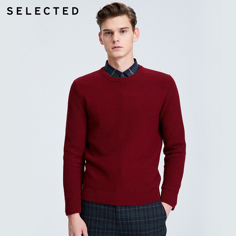 SELECTED Men's Autumn & Winter Sweater Pure Color Business-casual Knit Pullovers S | 419425513