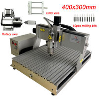 DIY CNC Router 3040 500W Gravur Schneiden Maschine 4 Achsen USB Port Mach3 Controller Mit Begrenzte Schalter Auto- überprüfung Werkzeug