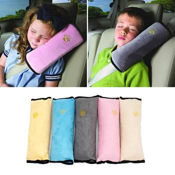 Children Seat Belt Shoulder Pillow Car Suede Shoulder Pillow Baby Seat Belt Headrest Shoulder Pillow image