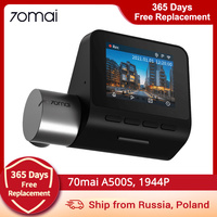 70mai Dash Cam Pro Plus + 70mai A500S Ingebouwde Gps Speed Coördinaten Adas Auto Dvr Cam 24H parking Monitor 1944P App Controle