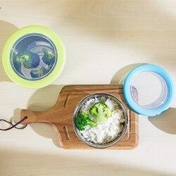 6 sztuk plastikowe pudełko do przechowywania żywności ze stali nierdzewnej liniowej zamknięte pudełko na lunch warzyw przechowywania żywności schowek świeże Pot C w Pudełka śniadaniowe od Dom i ogród na