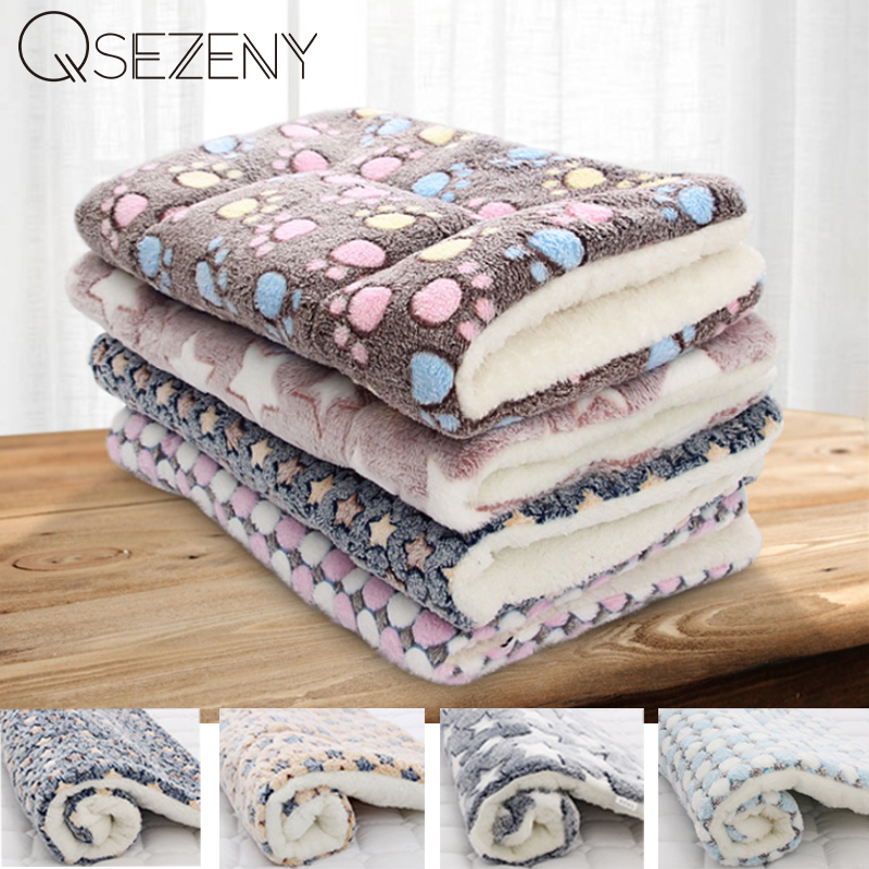 Bed-Mat Sofa Cushion Pet-Blanket Fleece-Pad Sleeping-Cover Puppy Home-Rug Dog Soft-Flannel