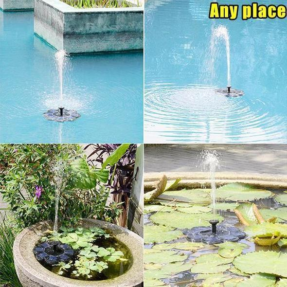 Solar Powered Submersible Or Floating Koi Pond Water Fountain  5