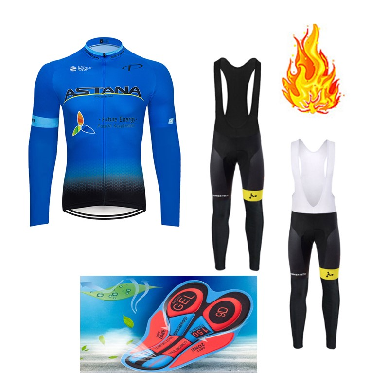 Mens cycling long sleeve jersey bib pants set cycling bib pants cycling jerseys