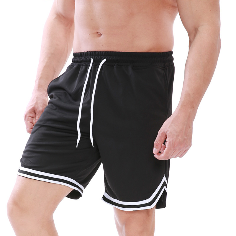 2020 Solid Color Hot Basketball Shorts Breathable Sports Running Shorts Outdoor Sports Fitness Shorts Loose Beach Shorts