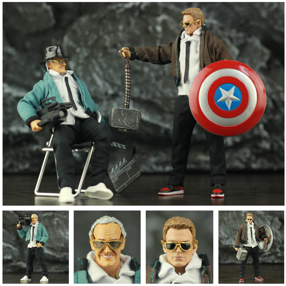 Custom Marvel Father Stanley 6 Cloth Suit Action Figure Captain America Avenger Endgame Legends Thor Mjollnir Glasses Toys Doll image