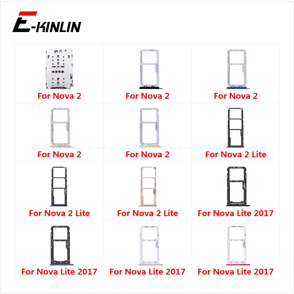 Sim Card Socket Slot Tray Reader Holder Connector Micro SD Adapter Container For HuaWei Nova 2 Lite 2017 Replacement Parts