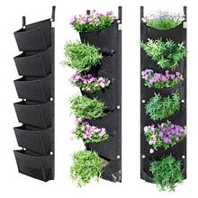 6 карманов лучшее растение расти сумка большой пространство водонепроницаемый дышащий цветок горшок использование для сада двора офиса дома украшения