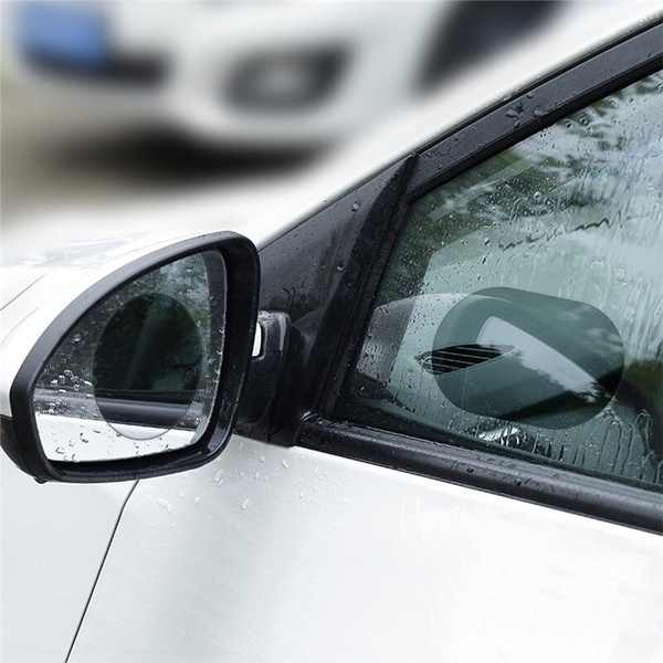 2 ชิ้น/เซ็ตกันฝนรถยนต์กระจกหน้าต่างกระจกฟิล์มเมมเบรน Anti FOG Anti-Glare สติกเกอร์กันน้ำขับรถความปลอดภัย