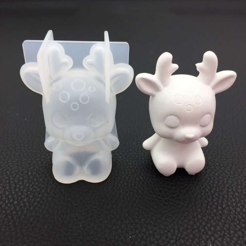 3D Teddy Bear Shape Animals Silicone Mold DIY Christmas 3D Cake Mold Candy Chocolate Mousse Decoration Baking Tool Moulds