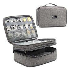Tuuth bolsa de armazenamento de cabo digital, organizador de energia móvel, acessórios eletrônicos, bolsa para fones de ouvido