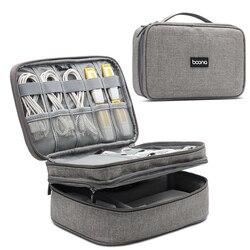 Tuuth Perjalanan Kabel Digital Tas Penyimpanan Mobile Power Tas Organizer Aksesoris Elektronik Case Tas untuk Earphone