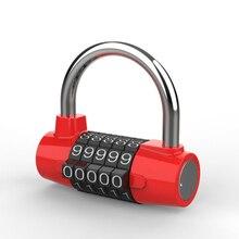 5 Digit Password Safety Lock Wide Shackle Combination Padlock New Digit Number Combination Travel Password Lock Zinc Alloy цена 2017