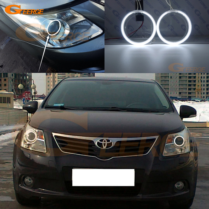 For Toyota Avensis T270 2009 2010 2011 Pre facelift Excellent Ultra bright illumination CCFL Angel Eyes kit Halo Ring