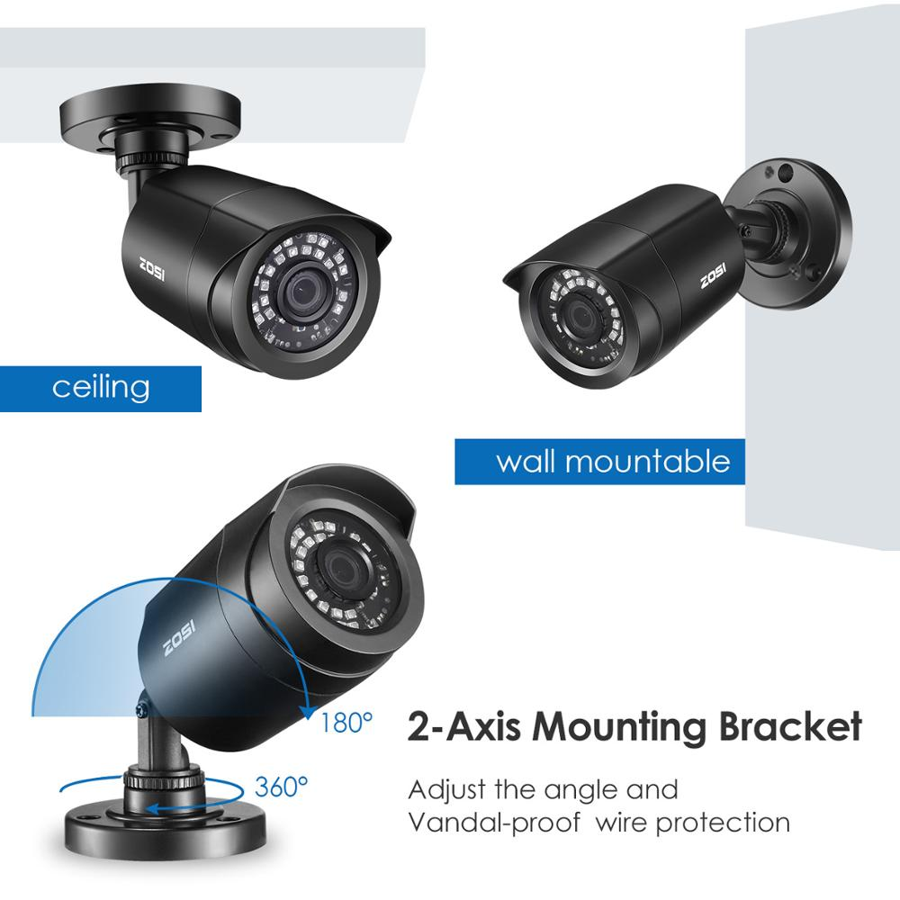 ZOSI 8CH 720P CCTV System 4IN1 1080N DVR 720P Waterproof IR Outdoor CCTV Security Cameras Home Surveillance Kit