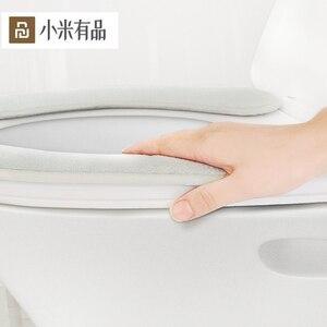 Image 2 - Youpin sedile del water 1 pair Selezionato flanella nessuna traccia di adsorbimento facile da rimuovere e lavare protable caldo per famlily inverno