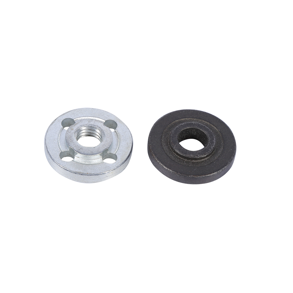 1 Pair Replacement Electrical Angle Grinder Fitting Part Flange Nut Disc Inner Outer Lock Flange Power Tool Replacement Part