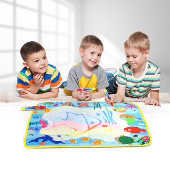 5 Types Magic Water Drawing Mat with Magic Pen Water Painting Doodle Board Kids Toys Playing Mat Educational Toys for Children