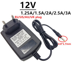 12 Volt 4.0*1.7mm ac/dc adaptor Universal AC DC Power Adapter Supply 12V 1.25A 1.5A 2A 2.5A 3A for LED light strips Converter
