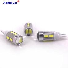 Bombillas LED T10 100 194 W5W 10 SMD 168 SMD 5630 para coche, luz de curva, ancho de la lámpara, 5730 Uds., venta al por mayor, Adebayor