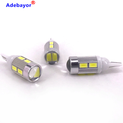 100 pcs T10 194 168 W5W 10 SMD 5630 SMD 5730 LED Light Bulbs Car Corner Light Lamp width Clearance Light wholesale Adebayor