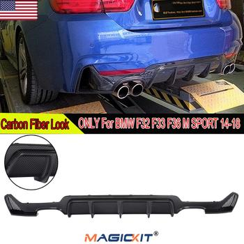 MagicKit Carbon Fiber Rear Bumper Diffuser For BMW F32 F33 435i M Tech Quad Out 2014-2018 image