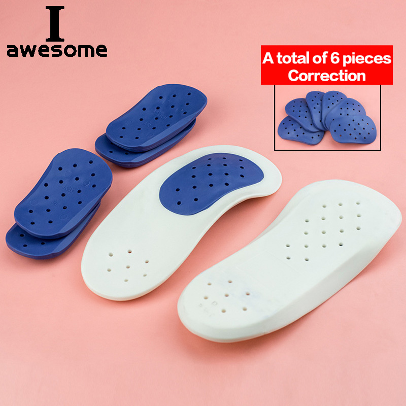 Half Arch Support Orthopedic Insole Flat Foot Correct 3/4 Length Orthotic Insoles Insert Shoe Pad For Children Kids Men Women