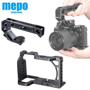 Image 1 - กรอบอลูมิเนียมป้องกันVlogการถ่ายภาพกล้องสำหรับSony A6600 พร้อมที่จับ 1/4 3/8 สกรูสำหรับไฟLEDไมโครโฟน