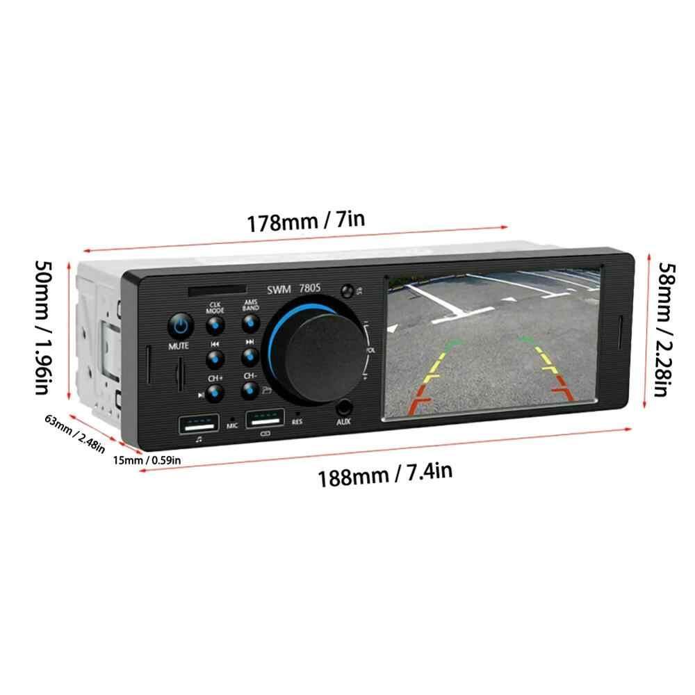 4.1 inç HD 1 Din araba radyo Stereo dokunmatik ekran Autoradio değiştirin WMA Bluetooth AUX In-Dash MP5 Udisk araba Stereo radyo Coche